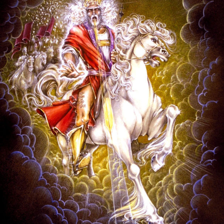 Jesus,Yahshua,Christ,King of Kings,Lord of Lord's,White Horse,Armies of Heaven,Army of Heaven,Sword out of Mouth,Strike Nations,Rod of Iron,Wine-press,Word of God,Faithful,True,War,Many Crowns,Great Supper of God,Eat Flesh,Armageddon,6th Vial,Sixth Vial,Alien Invasion,Wrath,beast,kings of earth,destroyed,judgment,Revelation 19,Grape Harvest,Revelation 14,Revelation 16