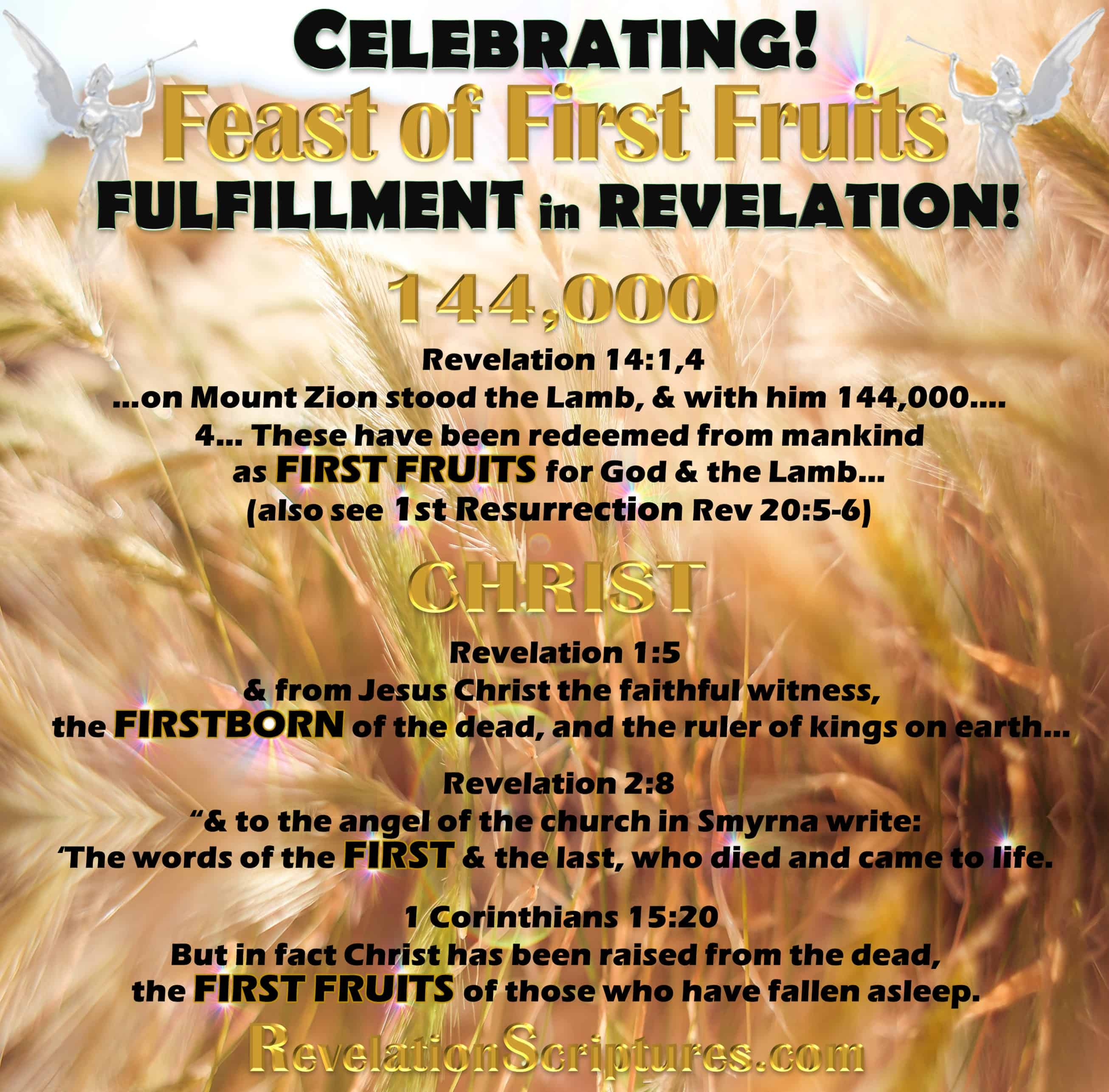 Celebrating the Feast of First Fruits Fulfillment in the ...