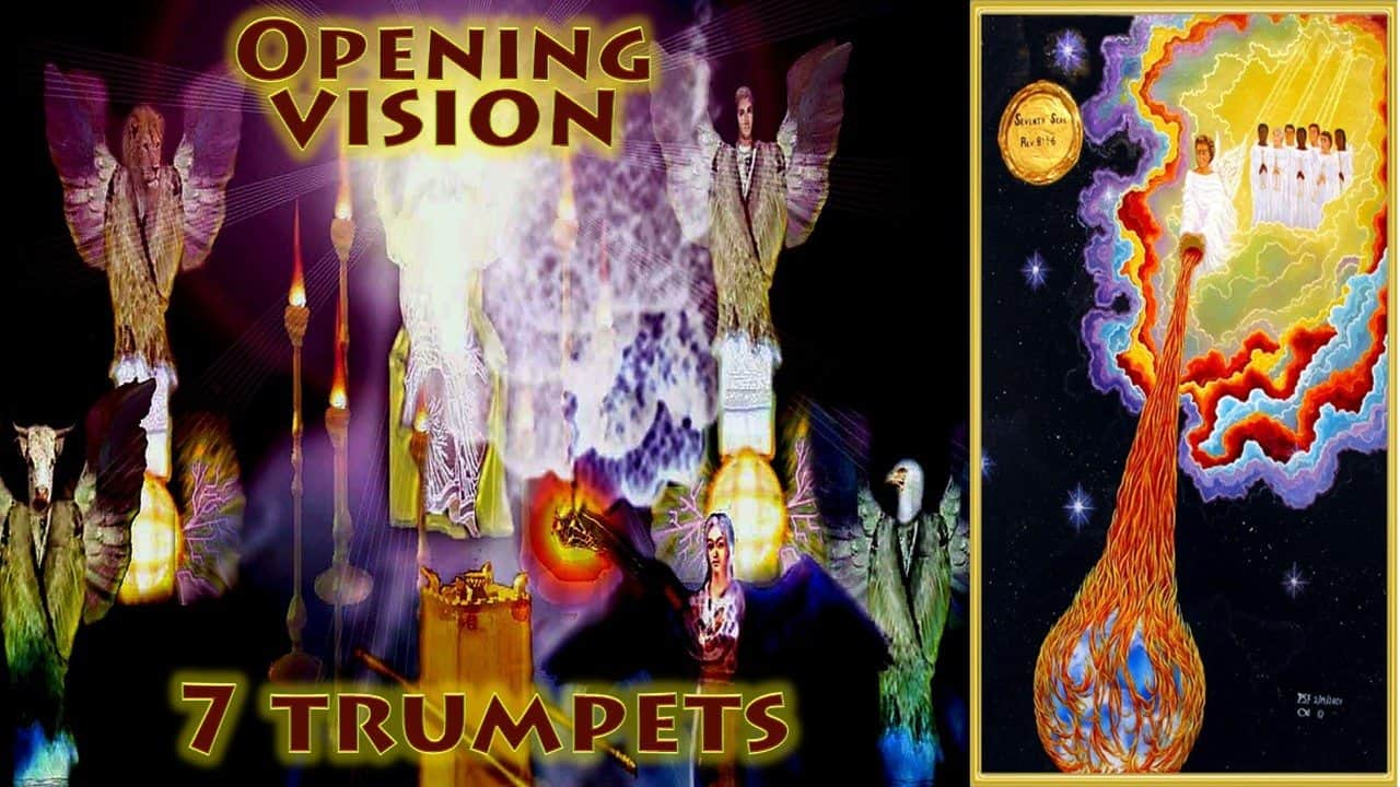 7 Trumpets,Seven Trumpets,Censur,Angel,Prayers of Saints,incense,Opening Vision,Fire,Altar,Thrown to Earth,Fire,Kindeled,Seven Trumpets Book of Revelation,Revelation Chapter 8,Apocalypse