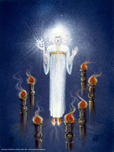 Jesus in Midst of Seven Lampstands Seven Candlesticks Sword Mouth Stars Right Hand Revelation Chapter 1 Introduction Seven Lampstands Seven Churches 7 Stars Book of Revelation