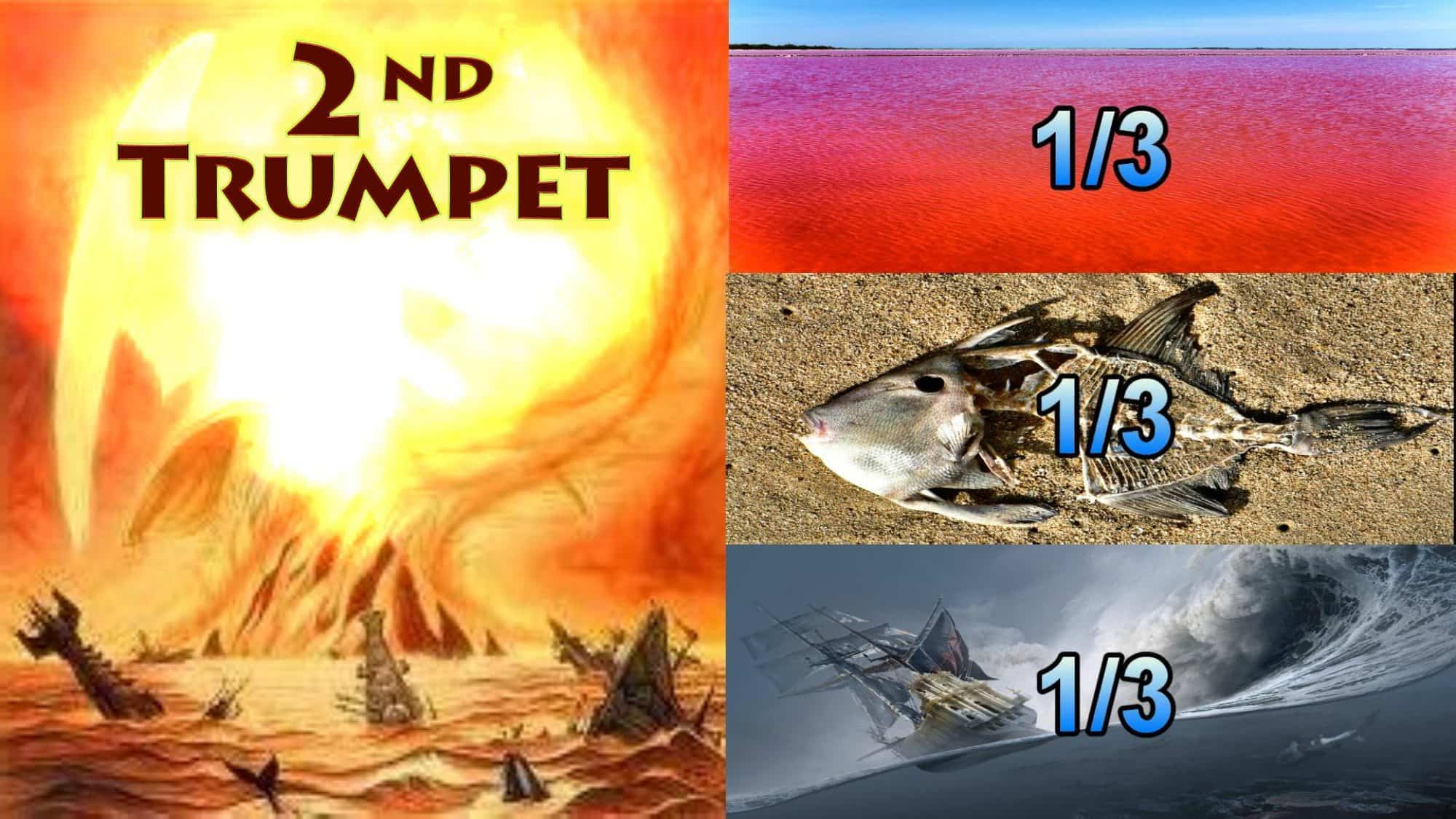 Second Trumpet,Something Like a,great Mountain Burning,Fire,Third Sea Blood,Third Sea Creachers Died,Third Boats Wrecked,destroyed,Seven Trumpets,Book of Revelation,Revelation Chapter 8,Apocalypse