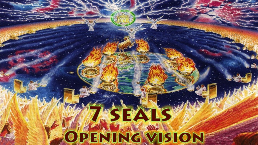 Seven Seals Opening Vision Throne 7 Spirits 24 Elders Lamb Opens Scroll Heaven Vision Chapter 4 & 5 Book of Revelation