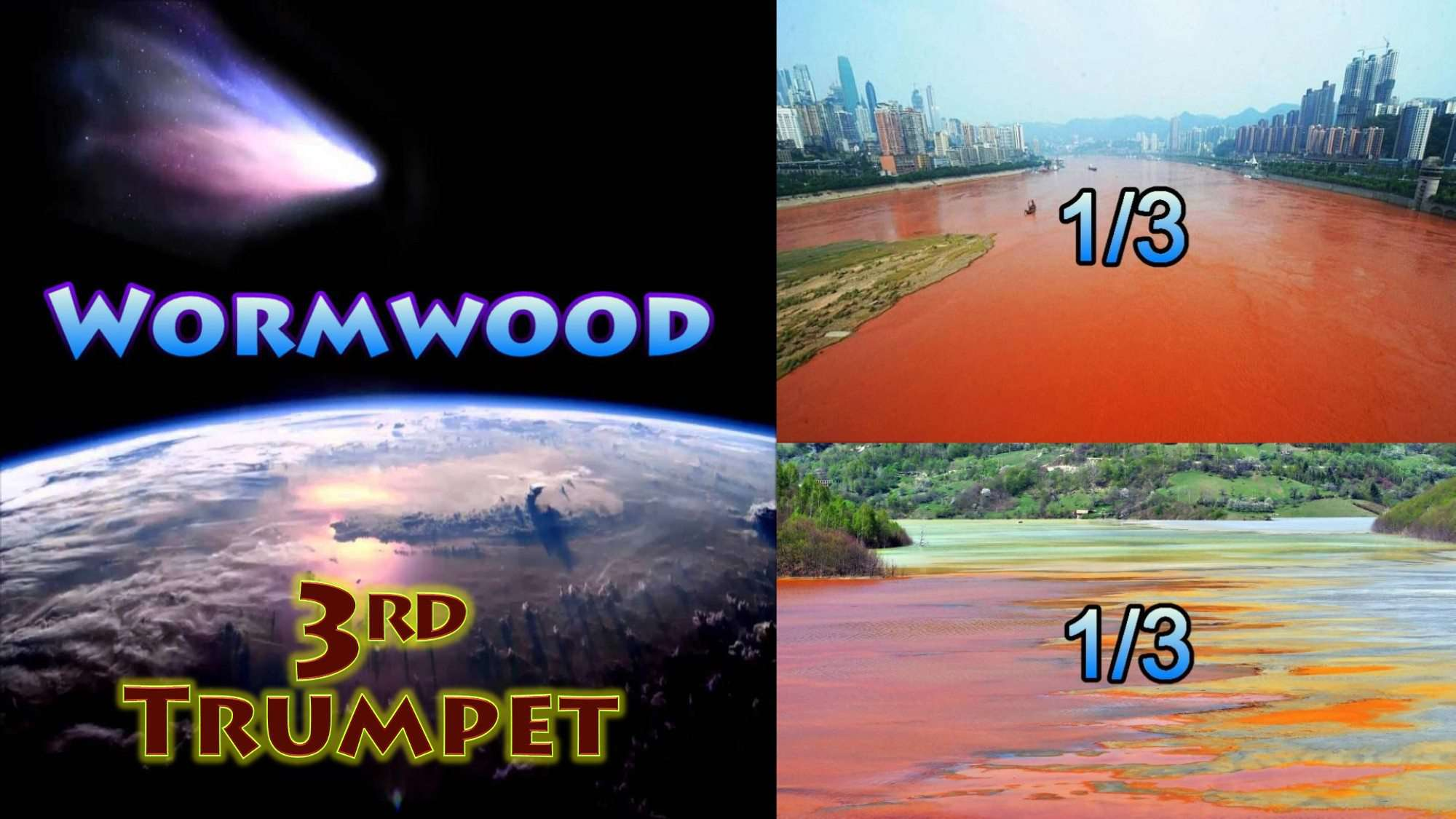 Third Trumpet,Star fell,Wormwood,Third Rivers,third Springs,Bitter,Poison Water,Seven Trumpets,Book of Revelation,Revelation Chapter 8,Apocalypse