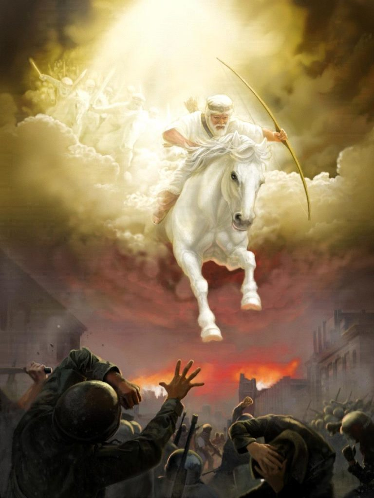 Jesus,Yahshua,Christ,King of Kings,Lord of Lord's,White Horse,Armies of Heaven,Army of Heaven,Sword out of Mouth,Strike Nations,Rod of Iron,Wine-press,Word of God,Faithful,True,War,Many Crowns,Great Supper of God,Eat Flesh,Armageddon,6th Vial,Sixth Vial,Alien Invasion,Wrath,beast,kings of earth,destroyed,judgment,Revelation 19,Grape Harvest,Revelation 14,Revelation 16,Bow,Arrow,Crown,Many Crowns