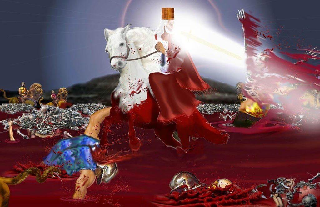 Jesus,Sickle,Harvest,Grape,Winepress,Blood,angels,reap,Wrath,Sixth Seal,Seventh Trumpet,Seven Vials of Wrath,Seven Bowls of Wrath,Seven Vials,Seven Bowls,Wrath,Lord's Day,Day of the Lord,Book of Revelation,Revelation of Jesus Christ,Last Days,End Times,Population Reduction,Blood,Horses bridle,1600 stadia,Winepress