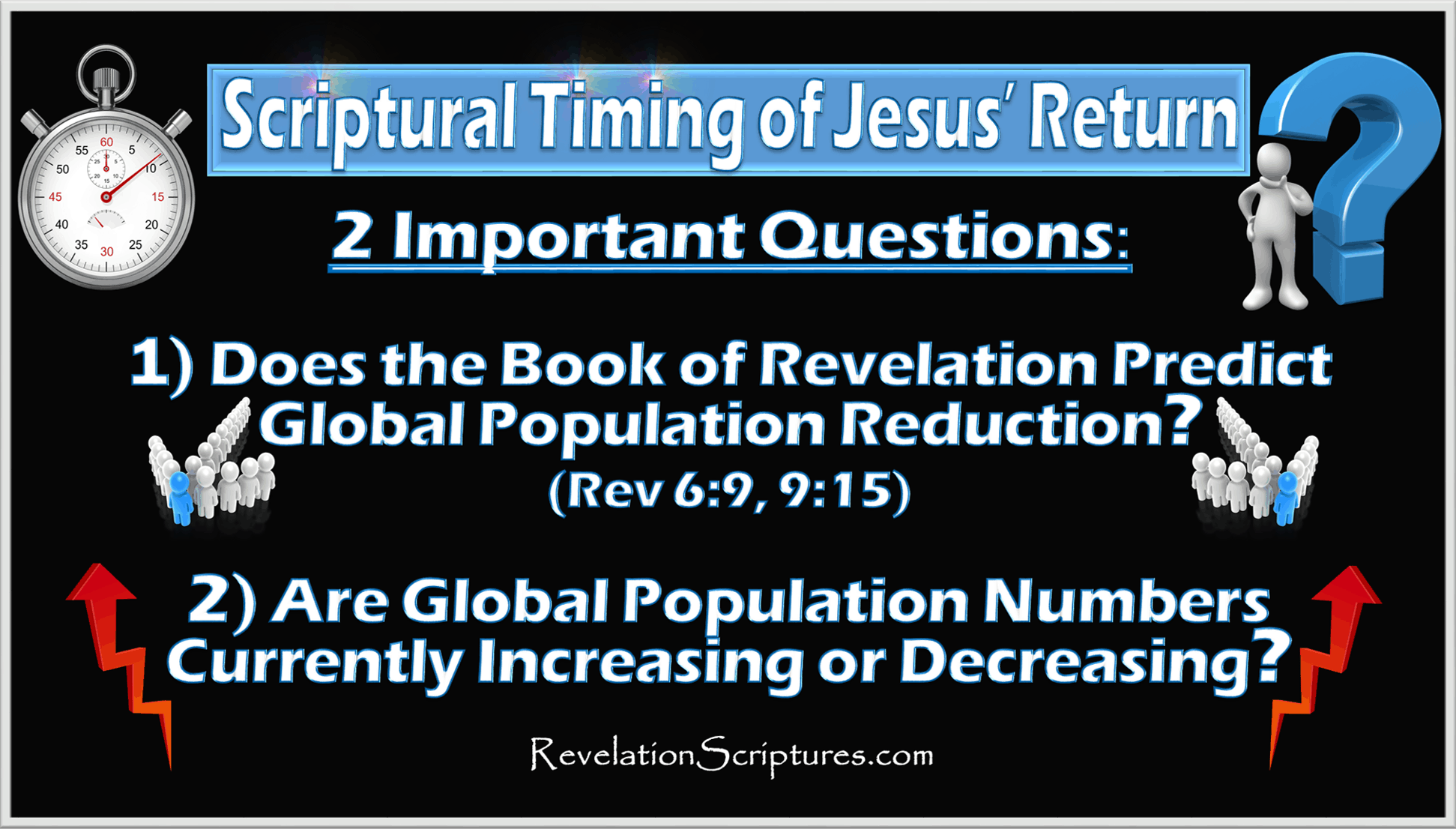 When will revelation start,when will jesus return,how long before Jesus returns,questions about Jesus return,questions about the 2nd Coming of Jesus,when will the end start,Book of Revelation,Population Control,Depopulation,Population Forcast,Population Reduction,Predictions,Charts,Population Decline,Fourth Seal,Kill fourth,Sixth Trumpet,Kill Third,7 Seals,7 Trumpets,7 Vials of Wrath,Bible,YHWH,Prophesy, End Times,Last Days,End of World,Destruction,World War 3,Apocalypse,New World Order,Order out of Chaos,Antichrist