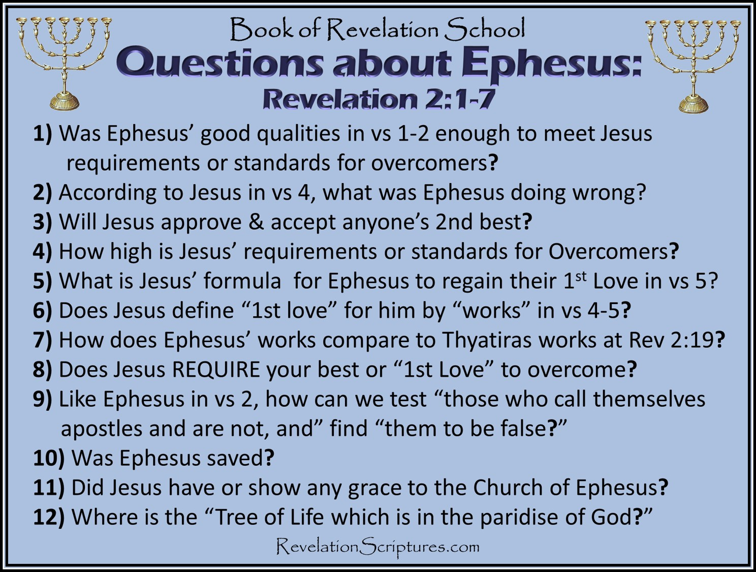 Ephesus - Study Guide & Scriptural Cross Reference - 7