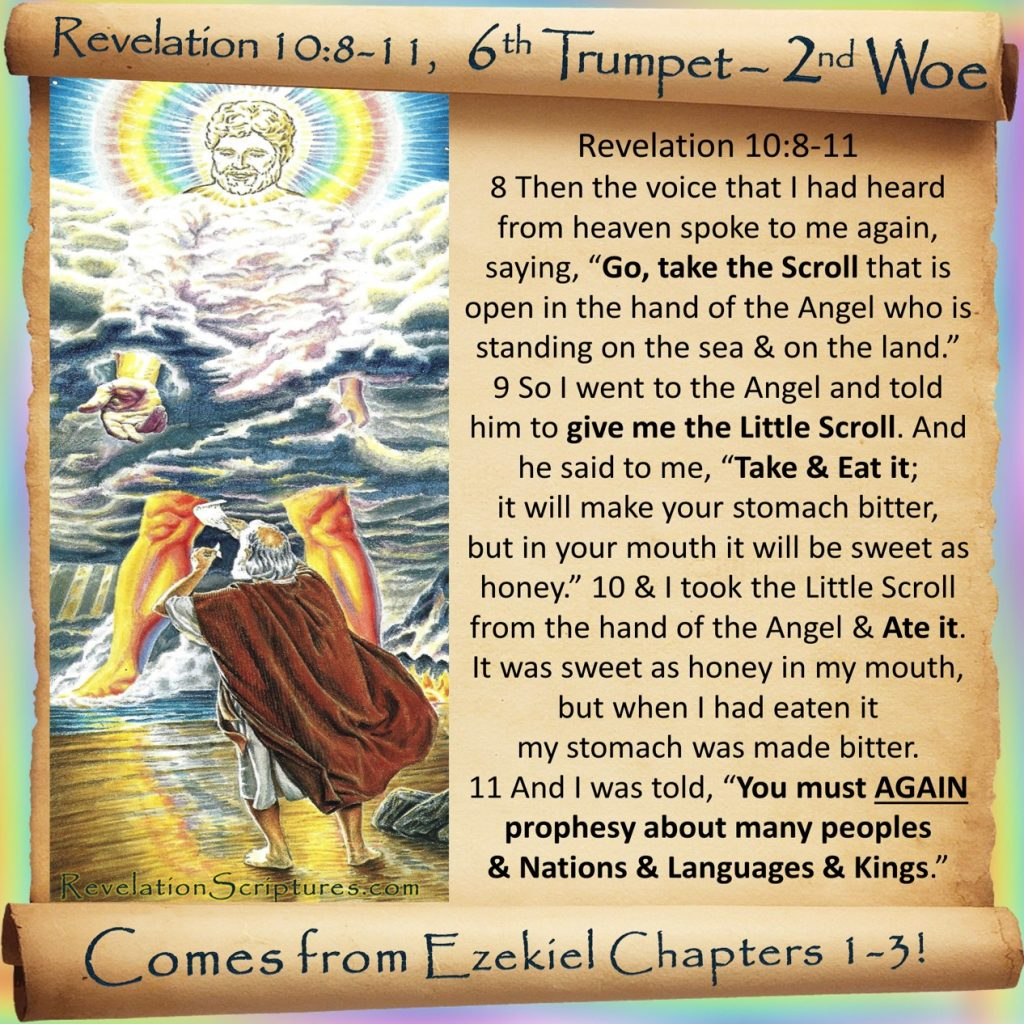 Sealed,Seven Thunders,Sealed 7 Thunders,Seal up,do not write,7 Thunders Sealed,rainbow over head,rainbow,Angel,little scroll,little book,Eat Scroll,eat book,do not write it down,mystery of God,Biblical prophets,7th Trumpet,7th Angel,Trumpet Call,Prophesy,sweet in mouth,bitter in stomach,sweet as honey,prophesy again,again,nations,languages,kings,languages,Revelation 10,Revelation Chapter 10,Rev 10,Sixth Trumpet,6th Trumpet,trumpet 6,Woe 2,2nd Woe,2nd Terrible Judgment,Book of Revelation,Apocalypse,The Book of Revelation,Propchcy,Bible Prophecy,Prophesy,Bible Prophesy,End Times,end of the world,