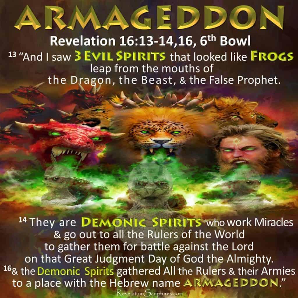 Sixth Vial,Bowl,6th Vial,6th Bowl,Wrath,Euphrates,Armageddon,Frogs,Demons,Miracles,Gather Kings Earth,Fight Against God,Beast,Dragon,False Prophet,Book of Revelation,Revelation Chapter 16,Revelation Chapter 19