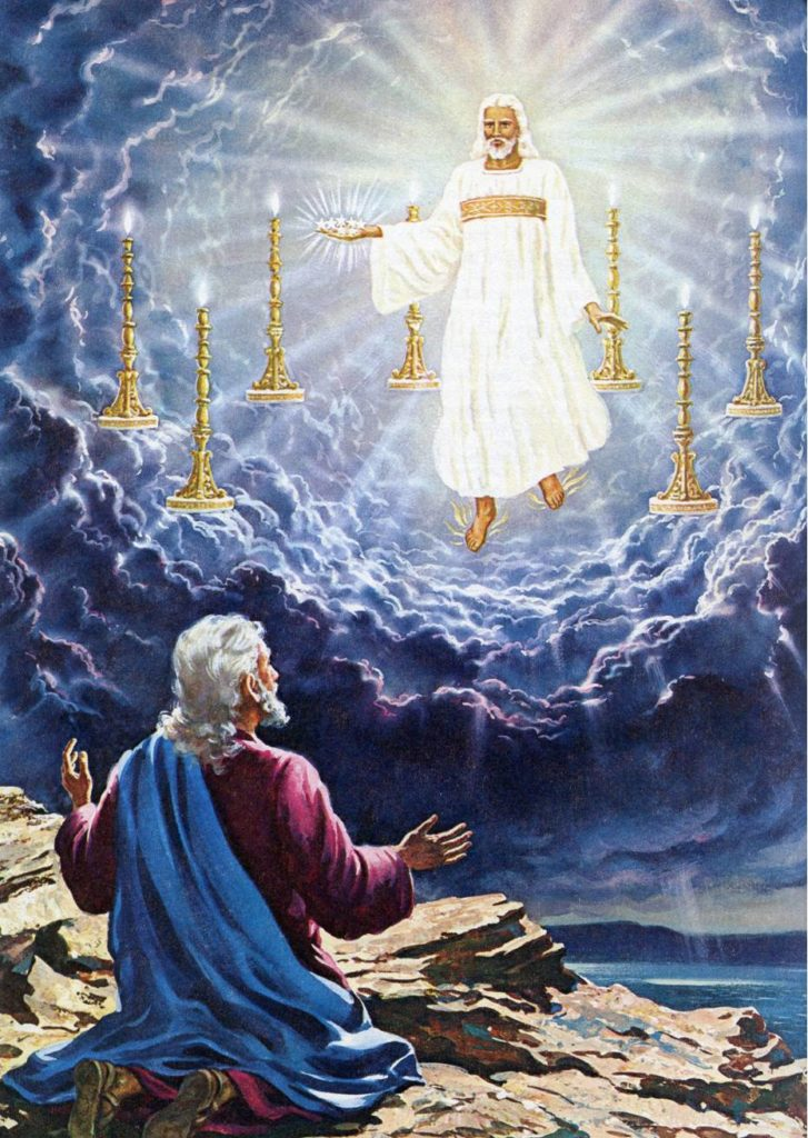 Jesus in Midst of Seven Lampstands Revelation Chapter 1 Introduction Seven Lampstands Seven Churches Seven Stars Book of Revelation